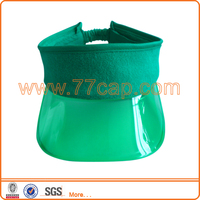 2014 popular colorful plastic visor hats