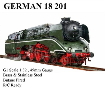 BR18201 1:32 live steam locomotive (Brass made)