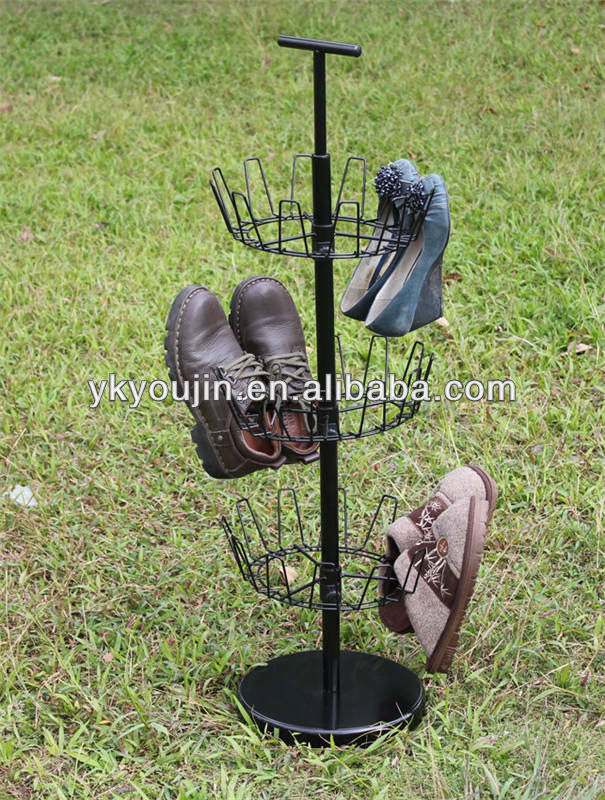 Household Revolving metal 4tier Shoe Tree