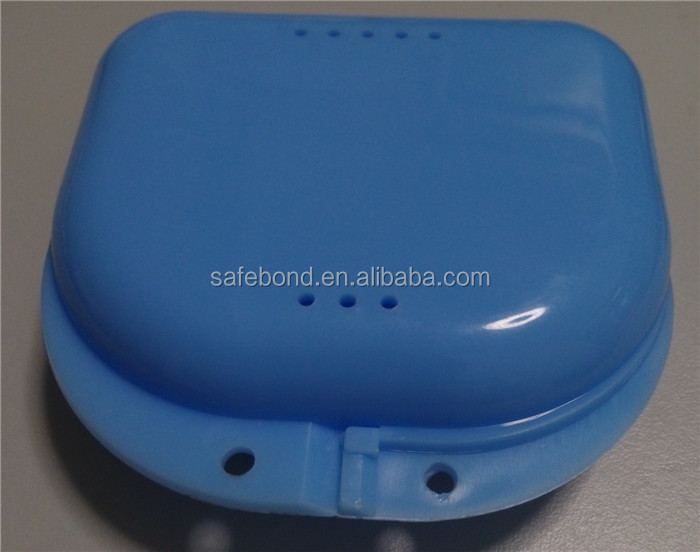 2015 top sales colorful denture box/dental retainer box