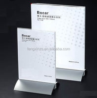 superior clear POP acrylic table top sign holders made by Enrich