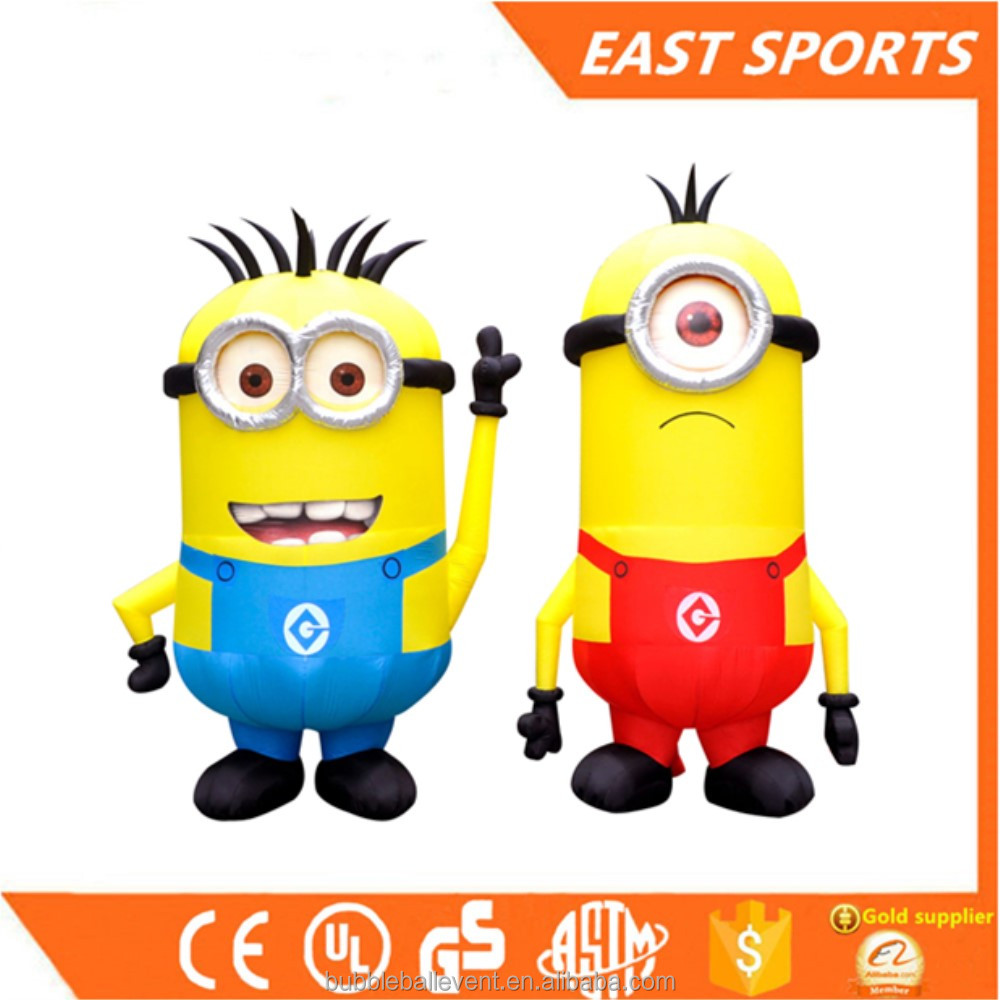 Cheap Advertising Inflatable Minion Model/ inflatable moving cartoon minions toys