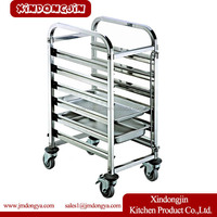 TR-6D stainless steel tray rack trolley, trolley cake, baking oven trolley