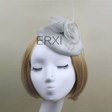 Wholesale Alibaba Party Fancy Sinamay Base Fascinator Hat Made in China