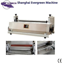 steel rollers JS720A paper edge glue machine, cardboard glue applicator machine