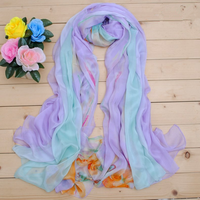 Gorgeous High quality Pure Silk Women large Scarf Wrap Lady Shawl