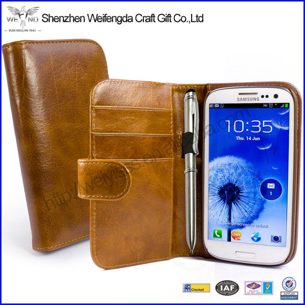 2013 New Case, Leather Flip Case For Samsung S3, PU Design