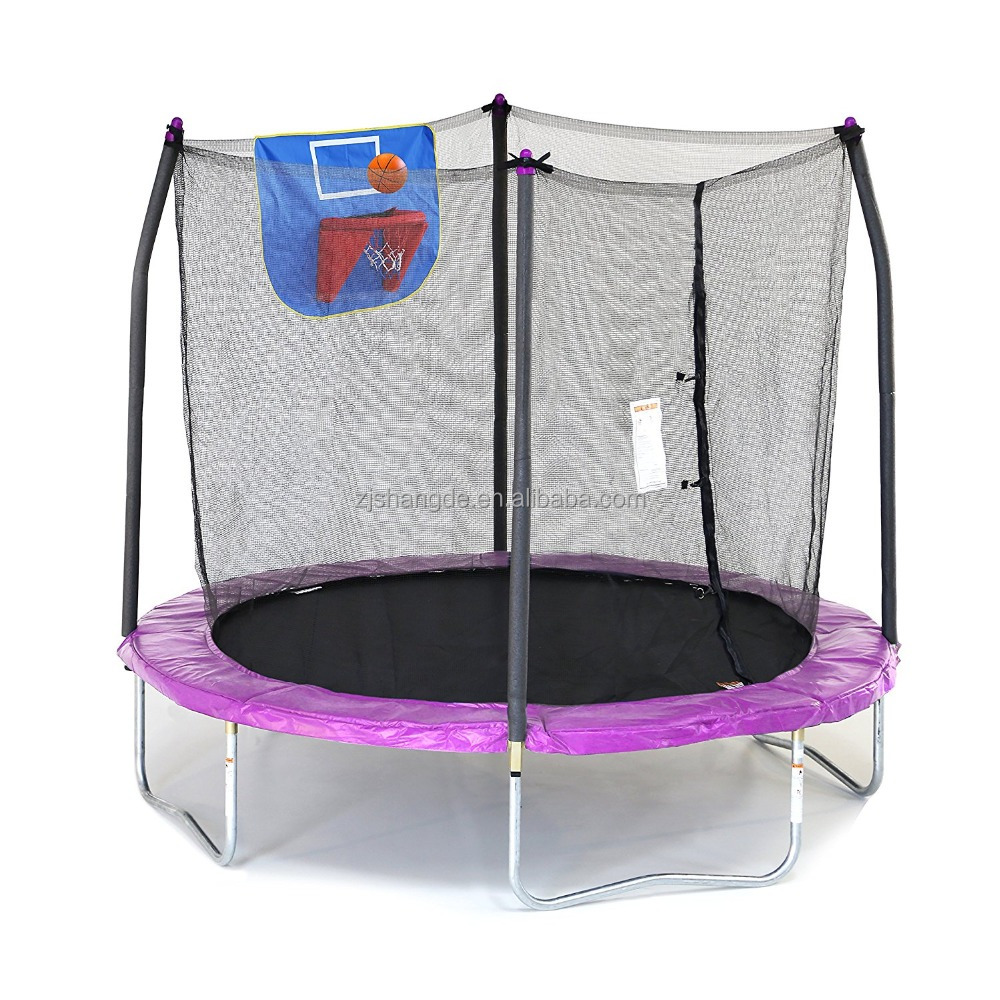 10 ft trampoline tent is dunk tank Trampoline with Safety Enclosure and Basketball Hoop