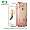 Luxury Design Newest Cellphone Acessories TPU Electroplate Flower Pattern Phone Case for iPhone 5 /6s/6plus