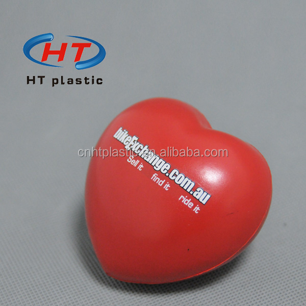 HTPU014 Promotion Heart Shaped PU Stress Relief/Cheap Stress Ball/Anti Stress Ball