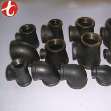 Stock size mild steel pipe fittings / galvanized pipe fittings factory
