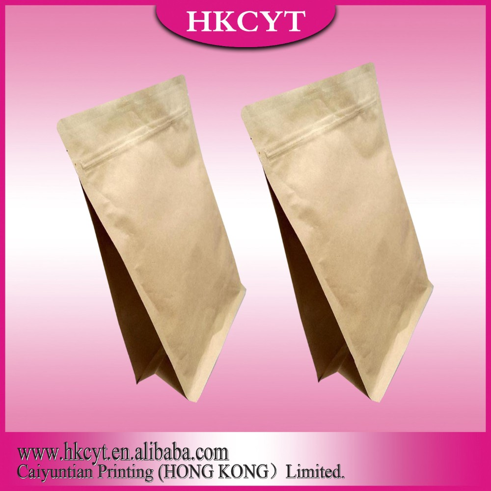 China Wholesale High Quality White/Brown Kraft Paper Bag