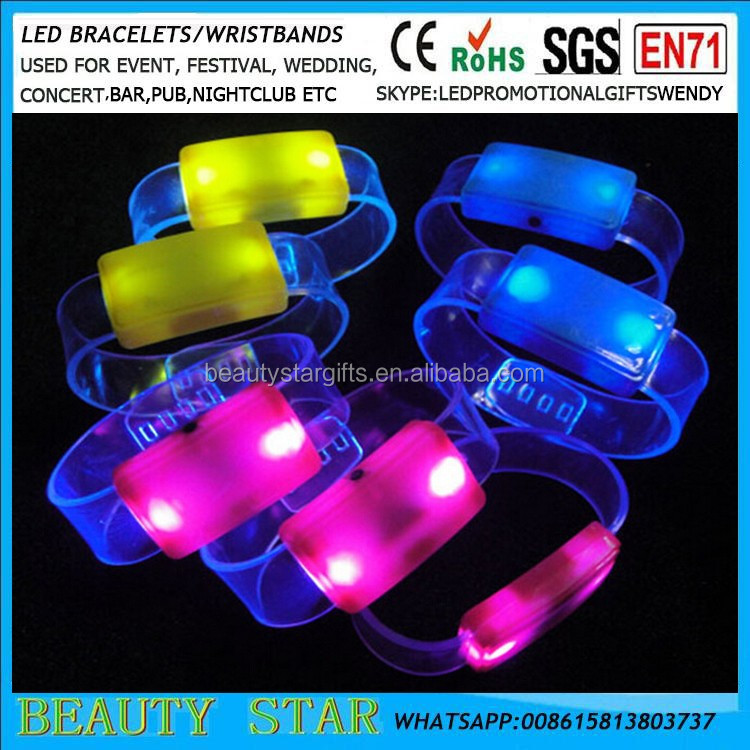 2016 Cheapest party gifts,led party gifts led light up bracelets for event,concert,shows China factory/manufacturer