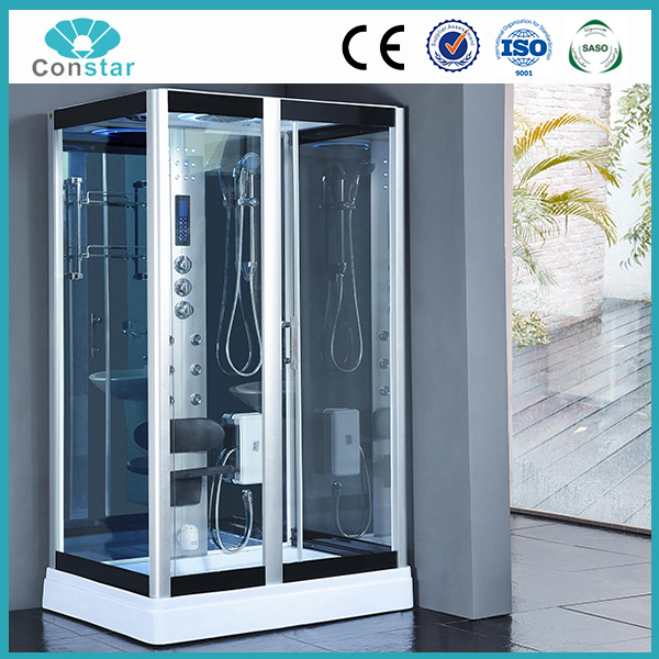 120x90 low tray rectangular shape hot warm luxury steam shower room with touch screen panel