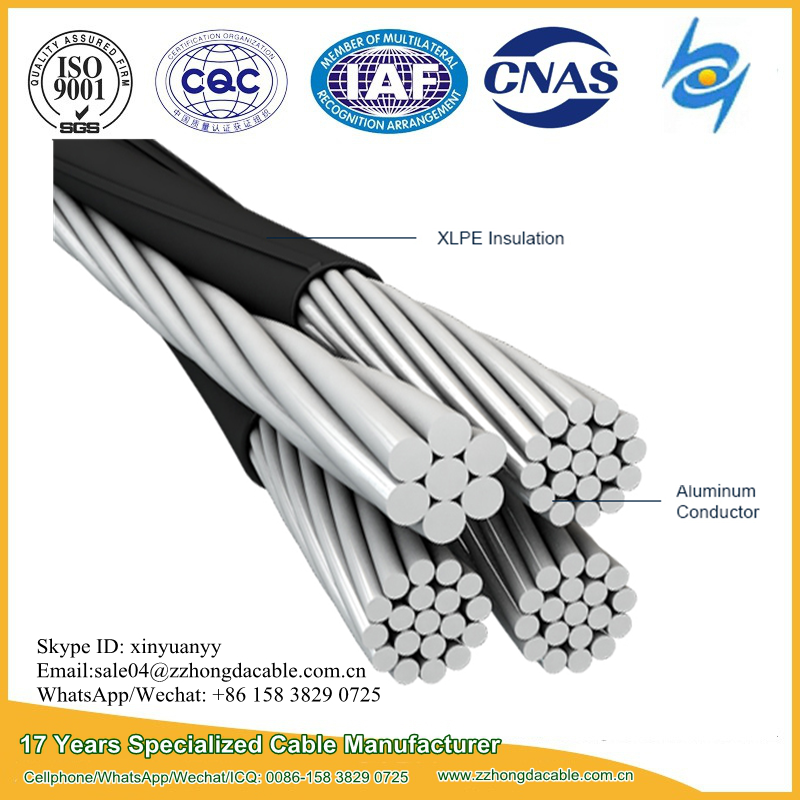 1kV Self supporting bundle aerial amka abc cable for overhead power distribution lines