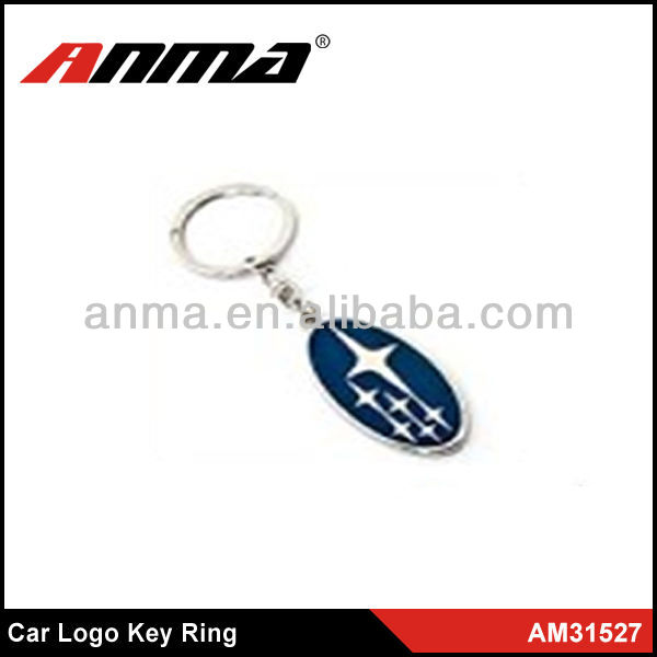 engraved car shaped key ring famous brands car logo key chain