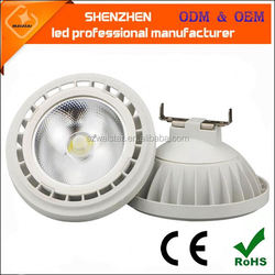 gu10 ce/rohs 15w dimmable ar111 cob led spotlight with external driver 15w