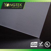 Square Light polyethylene material linear pattern Led diffuser plastic plate