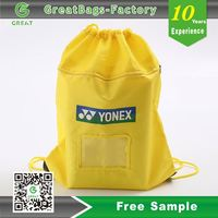 Lower Minimum Reusable Sports drawstring bag polyester