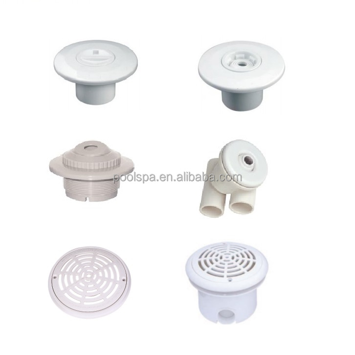 White goods Skimmers, Return inlets, Main drains, vacuum fittings accessories for swimming pool