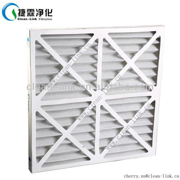 Customized sizes low price high quality foldaway paper frame filter mesh for air condition