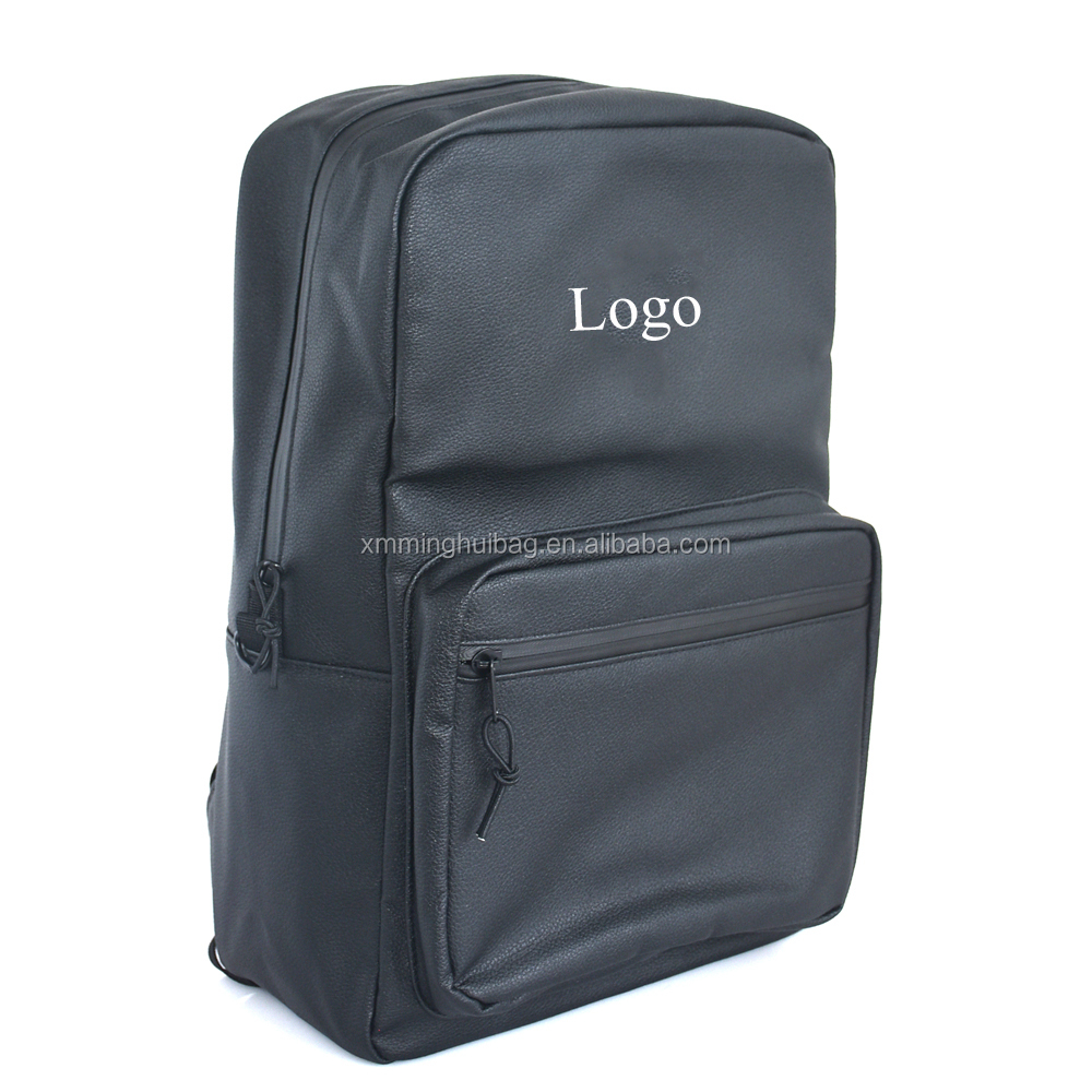 Custom Leather Smell Proof Backpack Odorless Book Backpack Odor Absorbent Backpack with Activated Carbon Fiber Lining