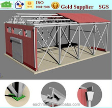 steel structure space frame dome shed