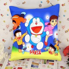 Custom Doraemon throw pillow printing , customize printed Doraemon throw pillow