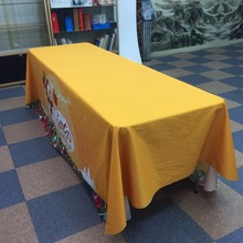 6ft 8ft Trade show logo custom printed event printed stretch tablecloth with logo