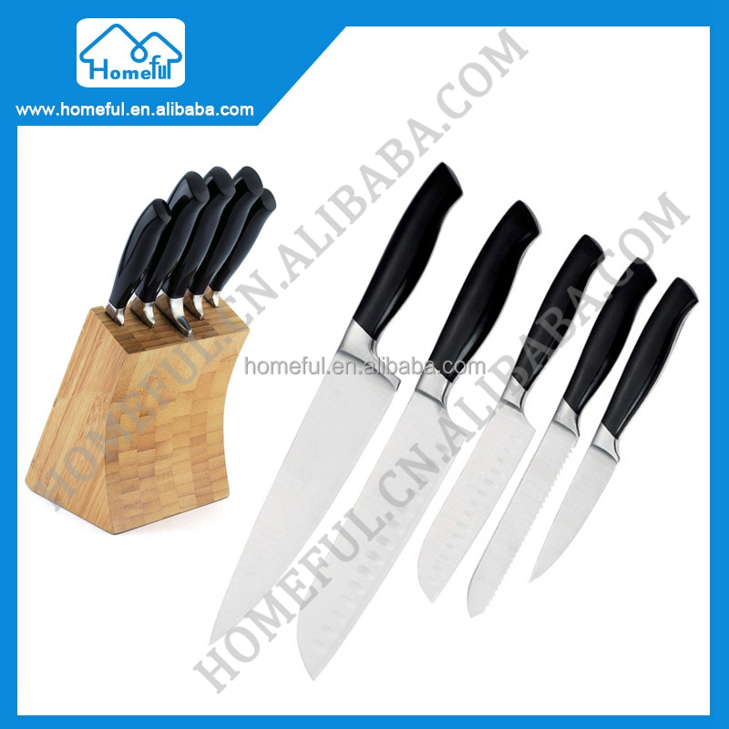 Yangjiang Forged POM Handle Kitchen fruit carving knife set