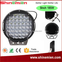 9inch 185W Car led work light, 6000K 15000LM IP68 auto LED working light, flood beam black color driving lamp