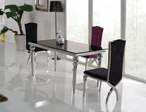 Modern Design Cheap Glass Dining Table 6 Chairs Set TH319