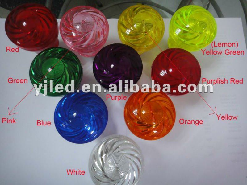 10 colors led amusement rides lamp mushroom cabochon lamp caps