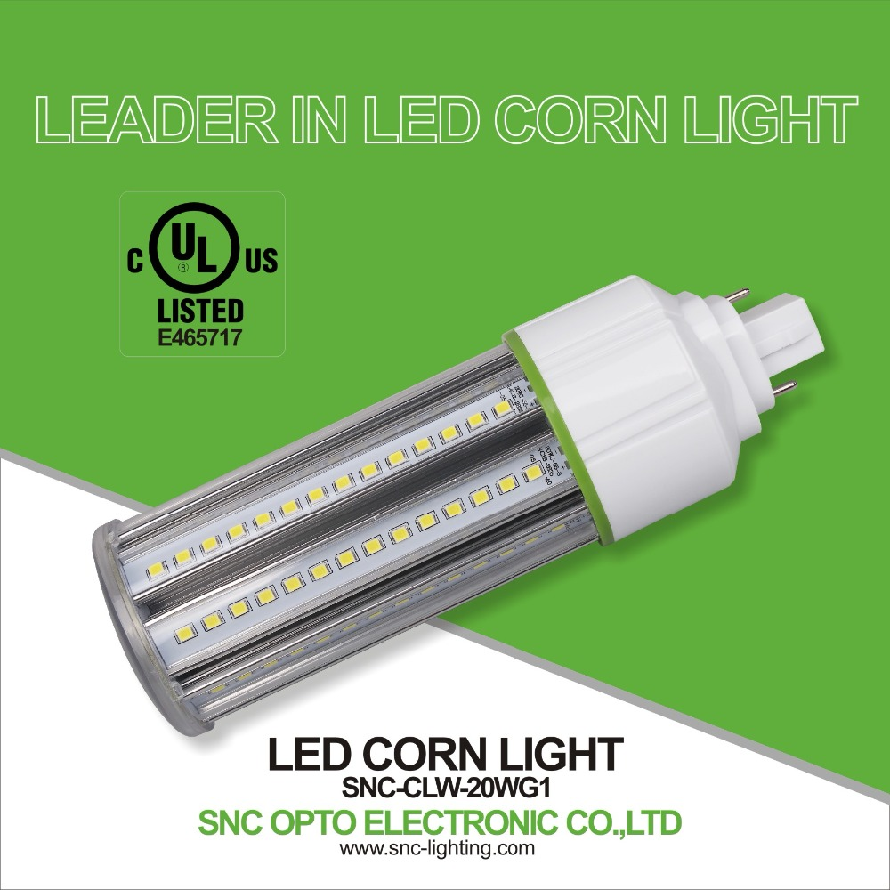 G24 LED PL Light UL/cUL Listed, 5-20 Watt Waterproof IP64 led corn light, Epistar SMD2835 Corn LED light