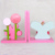 New Design Customized Pink Resin Bookends