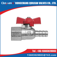 female thread and hose connector ball cock for gas and malleable cast iron gas valve with butterfly handle