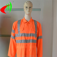 safty workwear reflective clothing with polyester cotton fabric,en471