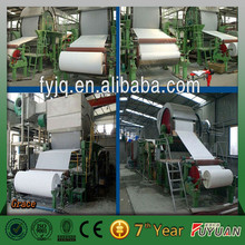 toilet tissue making machine,small capacity waste paper and virgin pulp as the raw material