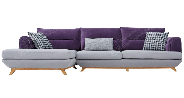 New Simple Design Indian Wedding Stage Wooden Corner Sofa