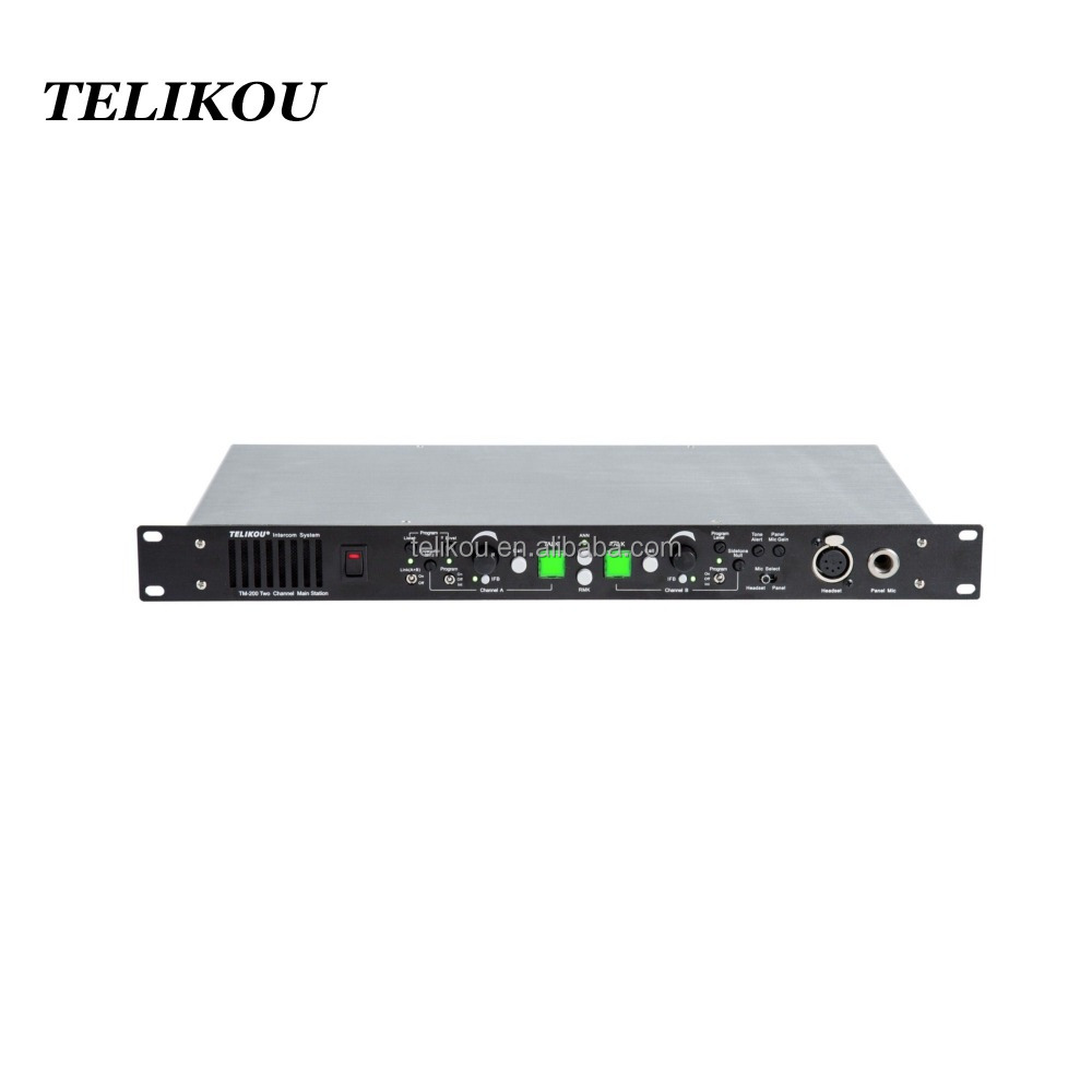 TELIKOU Two Channel Wired Full-duplex ENG EFP live broadcast intercom system