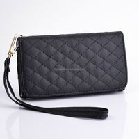New Wristlet Leather Case Wallet Cover Handbag For iPhone 5 5s With Metal Chain