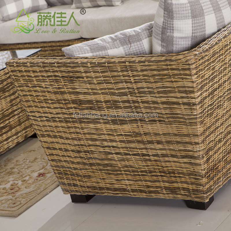 Vintage Leisure Style Real Rattan Wicker Living Room Sofa Furniture Set View Rattan Sofa Love