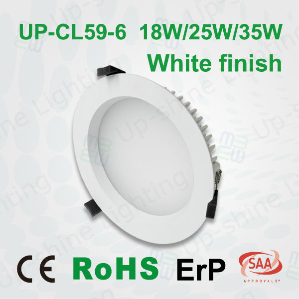 6 inch Cut out 160mm 90 Degree Beam Angle DALI Dimmable 18W Led Downlight