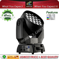 Versatile 19x15w RGBW 4in1 Zoom Moving Head LED Stage Light