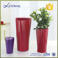 Large Triangle plastic flower decorate pot with water indicator