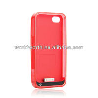 Iphone Solar Charger 2400mAH 5V 1A Enerplex Solar Charging Battery Case for the iPhone 4 and 4S 16340/18350 battery case