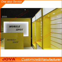 Mobile accessories display rack of mobile phone store interior design
