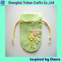 Felt material Jewelry/timepieces packaging pouch bags with logo and drawstring