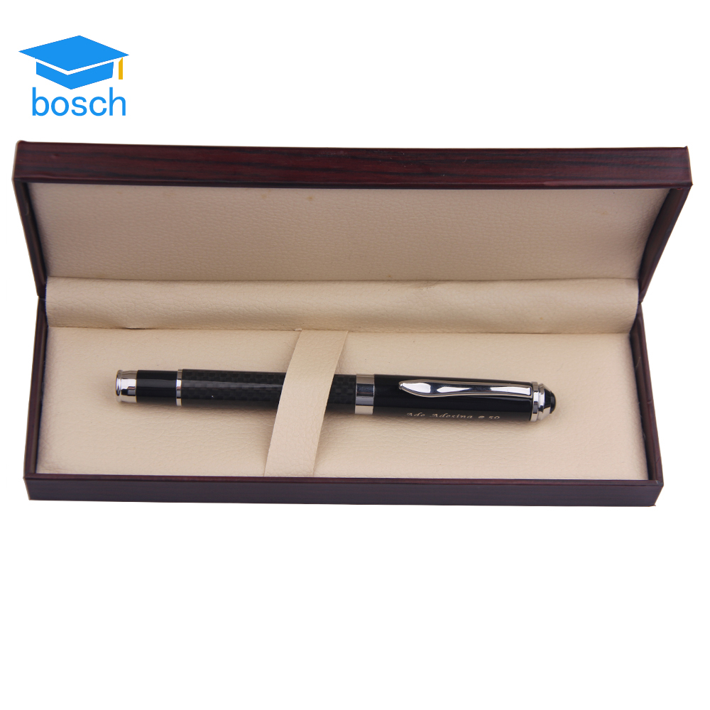 Brands executive Luxury carbon fiber designed Featured roller metal engraved pens