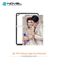 Latest Sublimation Blank Case, 2D Blank Rubber Tablet Cover for iPad Air 2